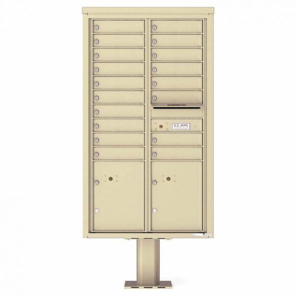 Florence Versatile Front Loading Pedestal Mailbox 4C15D-18-P Sandstone
