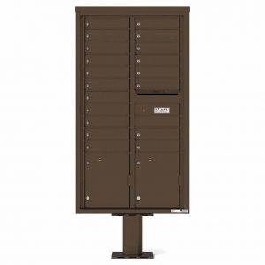 Florence Versatile Front Loading Pedestal Mailbox 4C16D-19-P Antique Bronze