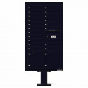 Florence Versatile Front Loading Pedestal Mailbox 4C16D-19-P Black