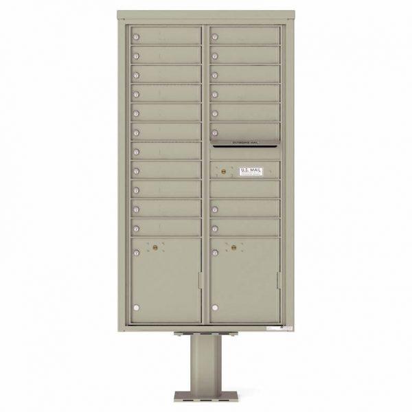Florence Versatile Front Loading Pedestal Mailbox 4C16D-19-P Postal Grey