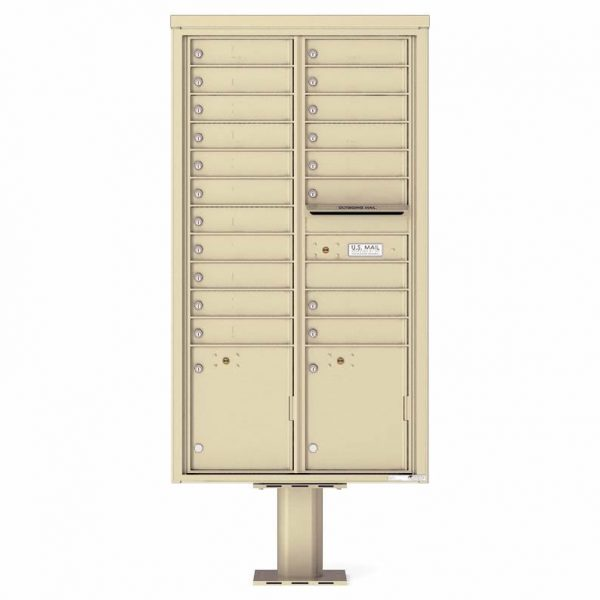 Florence Versatile Front Loading Pedestal Mailbox 4C16D-19-P Sandstone