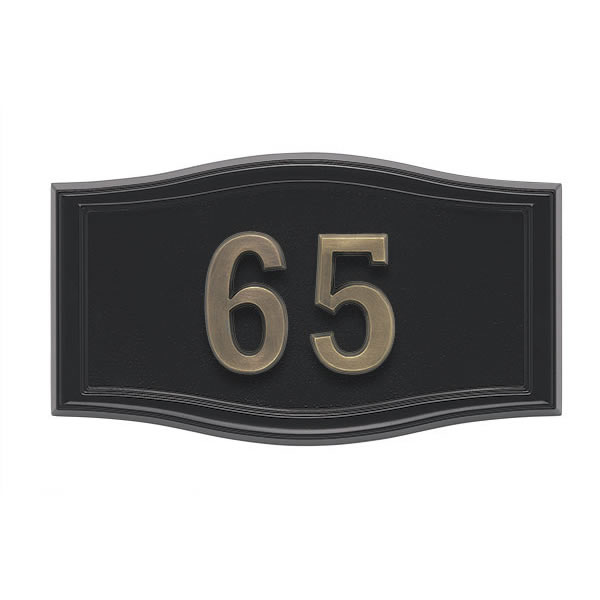 All Black Address Plaque A2-SRBL