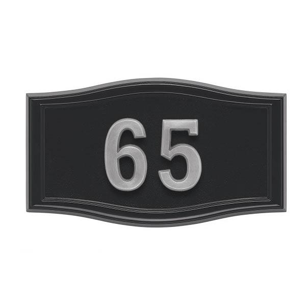 All Black Address Plaque S2-SRBL