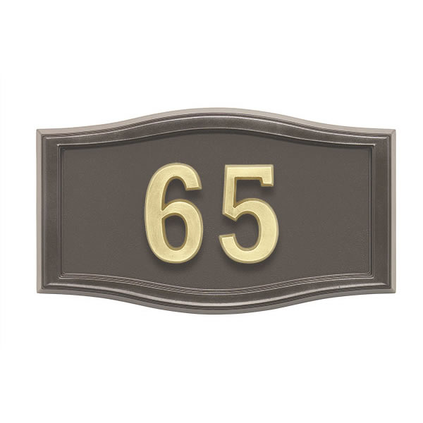 All Bronze Address Plaque H2-SRBR