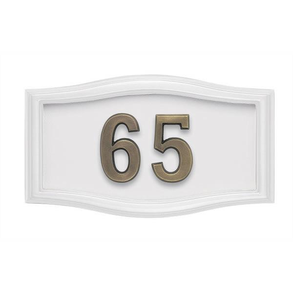 All White Address Plaque A2-SRWH