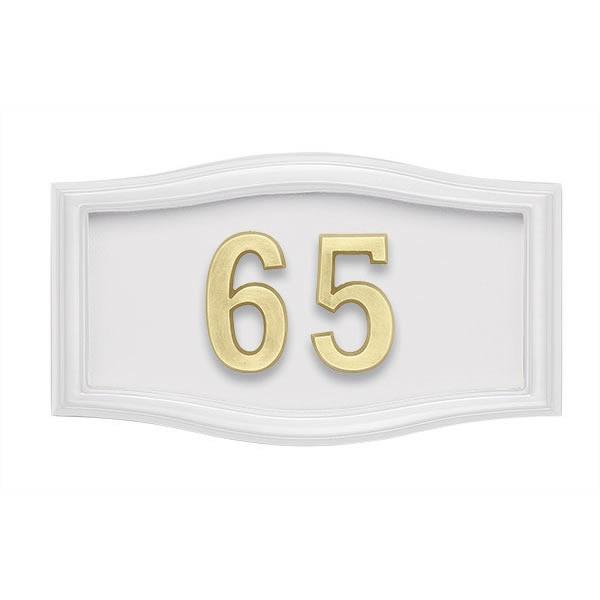 All White Address Plaque H2-SRWH