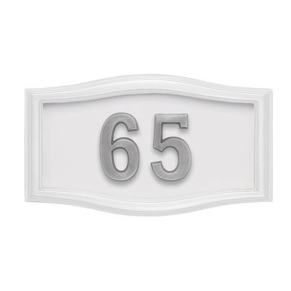 All White Address Plaque S2-SRWH