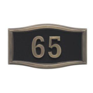 Black Antique Bronze Address Plaque Model A1-SRBL