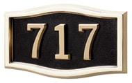 Black with Brass Address Plaque G_SRB_PB1