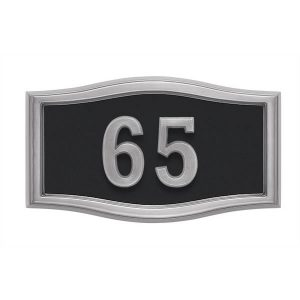 Black with Satin Nickel Address Plaque S1-SRBL
