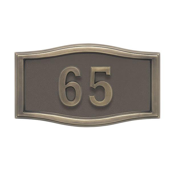 Bronze Antique Bronze Address plaque A1-SRBR