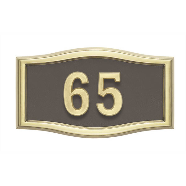 Bronze with Brass Address Plaque H1-SRBR