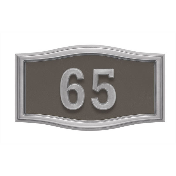 Bronze with Satin Nickel Address Plaque S1-SRBR