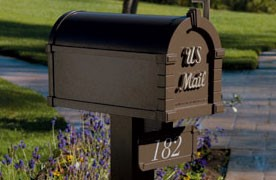 Triple Keystone Address Plaque on Mailbox