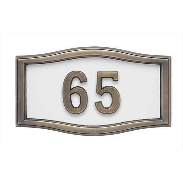 White with Antique Bronze Address Plaque A1-SRWH