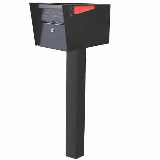 1 Mail Manager Mailboxes with Post Black