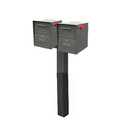 2 Junior Oasis Mailboxes with Post