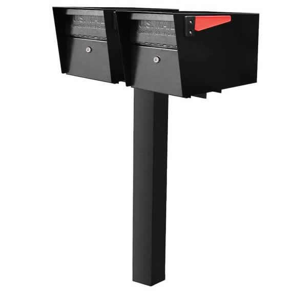 2 Mail Manager Mailboxes with Post Black