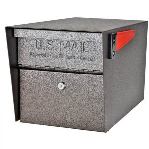 3 Mail Manager Locking Mailboxes with Post Bronze