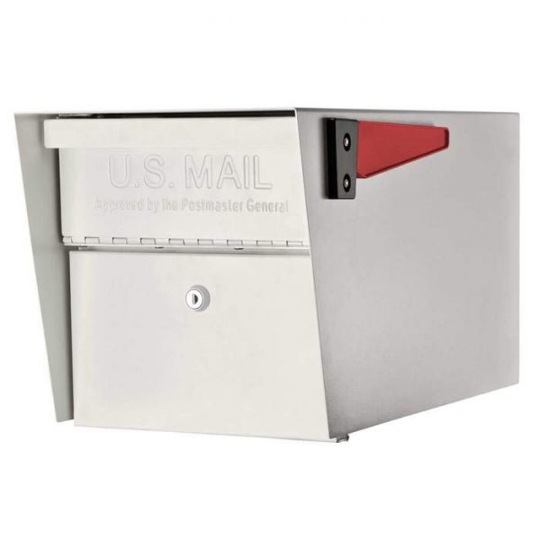 3 Mail Manager Locking Mailboxes with Post White