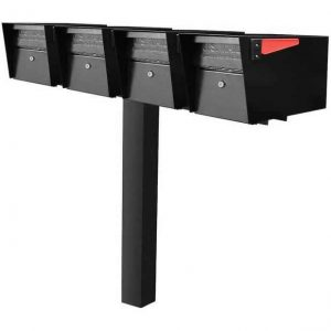 4 Mail Manager Mailboxes with Post Black