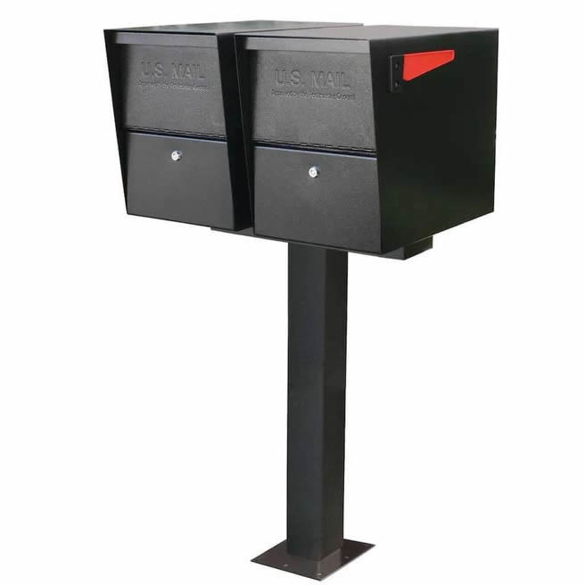 2 Package Master Black on Surface Mount Post