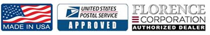 Made in USA USPS Approved Authorized Dealer Logos