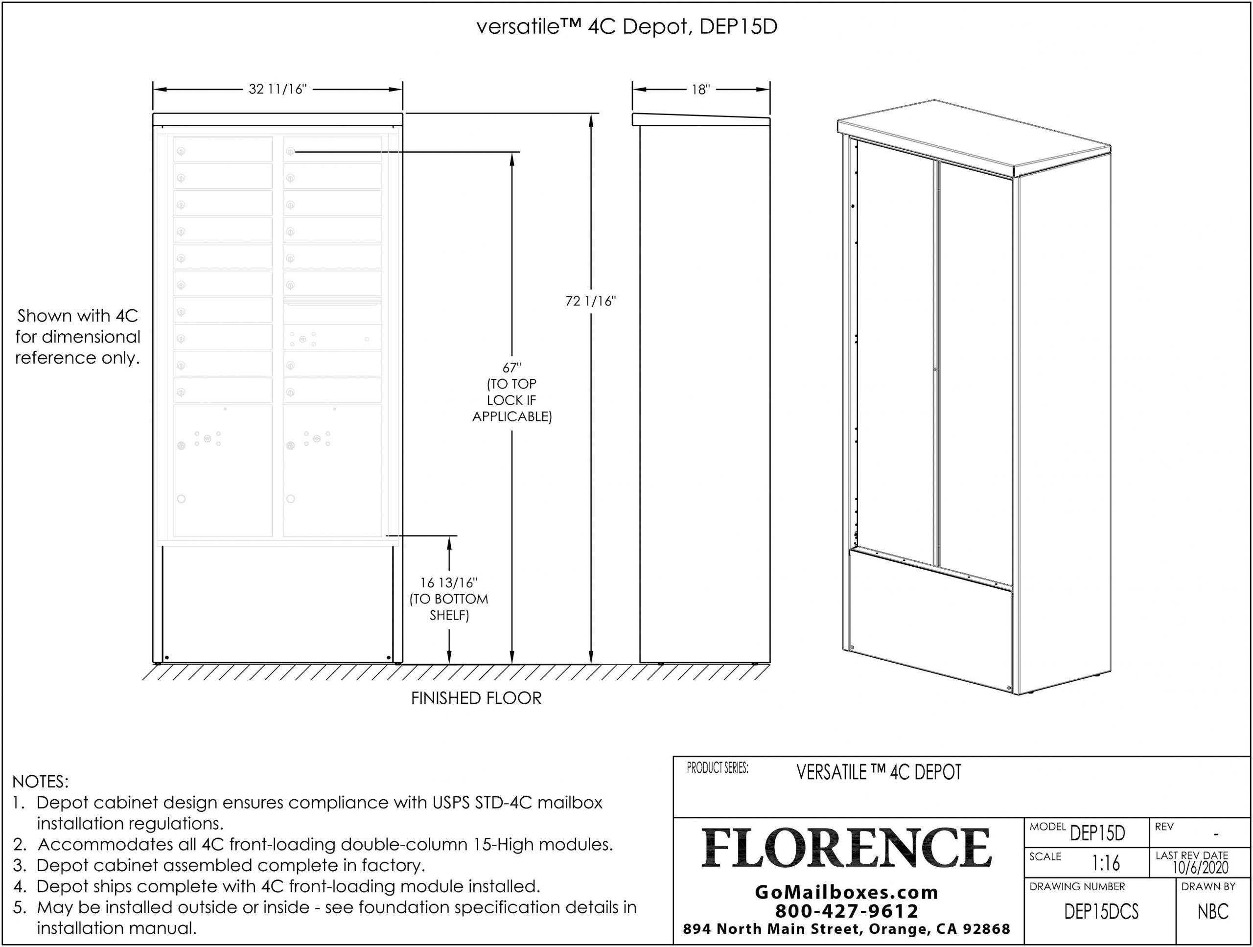 18 Door Depot Cabinet Dimensions