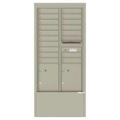 18 Door Depot Cabinet Postal Grey 4C15D-18-D -PG