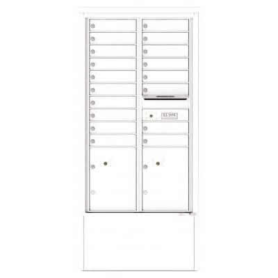18 Door Depot Cabinet White 4C15D-18-D -WH