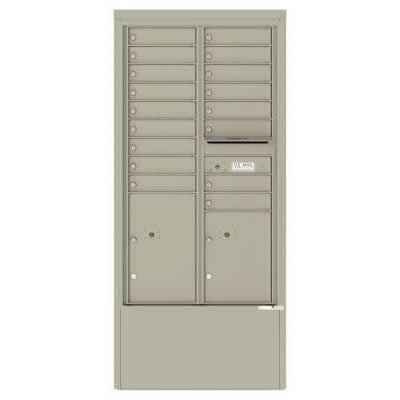17 Door Depot Postal Grey 4C15D-17-PG