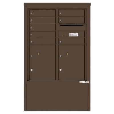 8 Door Florence Versatile 4C Depot Cabinet Cluster Mailboxes 4CADD-8 Antique Bronze