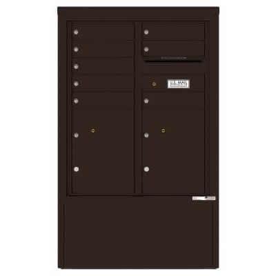 8 Door Florence Versatile 4C Depot Cabinet Cluster Mailboxes 4CADD-8 Dark Bronze