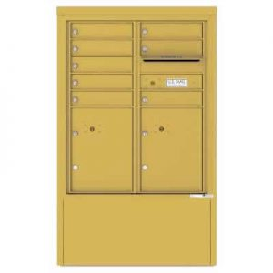 8 Door Florence Versatile 4C Depot Cabinet Cluster Mailboxes 4CADD-8 Gold Speck