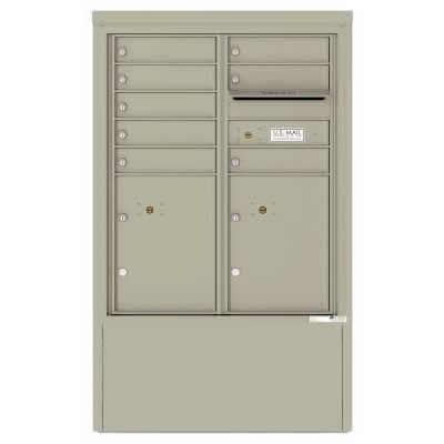 8 Door Florence Versatile 4C Depot Cabinet Cluster Mailboxes 4CADD-8 Postal Grey