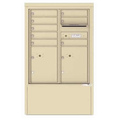 8 Door Florence Versatile 4C Depot Cabinet Cluster Mailboxes 4CADD-8 Sandstone