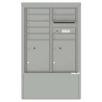 8 Door Florence Versatile 4C Depot Cabinet Cluster Mailboxes 4CADD-8 Silver Speck