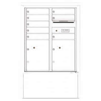 8 Door Florence Versatile 4C Depot Cabinet Cluster Mailboxes 4CADD-8 White