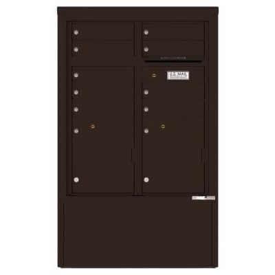 9 Door Florence Versatile 4C Depot Cabinet Cluster Mailboxes 4CADD-9 Dark Bronze