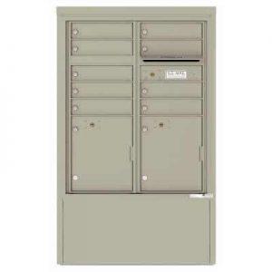 9 Door Florence Versatile 4C Depot Cabinet Cluster Mailboxes 4CADD-9 Postal Grey