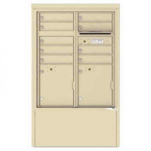 9 Door Florence Versatile 4C Depot Cabinet Cluster Mailboxes 4CADD-9 Sandstone