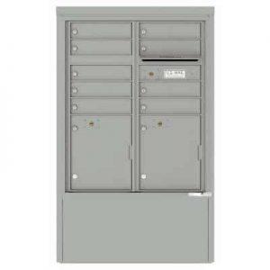 9 Door Florence Versatile 4C Depot Cabinet Cluster Mailboxes 4CADD-9 Silver Speck