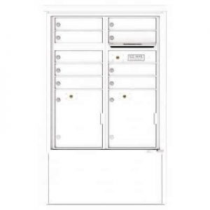 9 Door Florence Versatile 4C Depot Cabinet Cluster Mailboxes 4CADD-9 White
