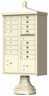 16-Door Florence Traditional Vital™ 1570 Series USPS Approved (CBU) Cluster Mailboxes