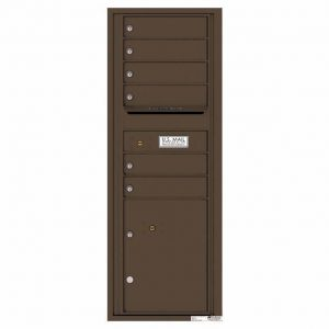 Florence Versatile Front Loading 4C Commercial Mailbox with 6 Tenant Doors and 1 Parcel Lockers 4C13S-06 Antique Bronze