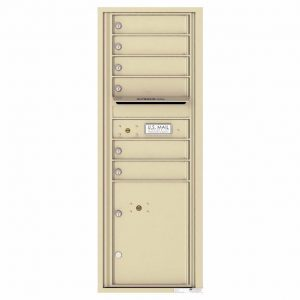 Florence Versatile Front Loading 4C Commercial Mailbox with 6 Tenant Doors and 1 Parcel Lockers 4C13S-06 Sandstone