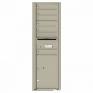 Florence Versatile Front Loading 4C Commercial Mailbox with 7 Tenant Doors and 1 Parcel Lockers 4C15S-07 Postal Grey