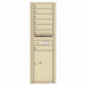 Florence Versatile Front Loading 4C Commercial Mailbox with 7 Tenant Doors and 1 Parcel Lockers 4C15S-07 Sandstone