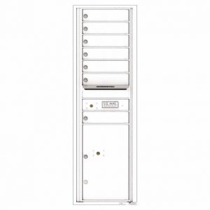 Florence Versatile Front Loading 4C Commercial Mailbox with 7 Tenant Doors and 1 Parcel Lockers 4C15S-07 White