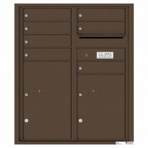 Florence Versatile Front Loading 4C Commercial Mailbox with 7 Tenant Doors and 2 Parcel Lockers 4CADD-07 Antique Bronze